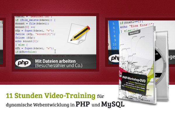 PHP-Workshop-DVD - Basics & Tricks - 600