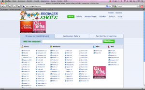 Screenshot BrowserShots.org