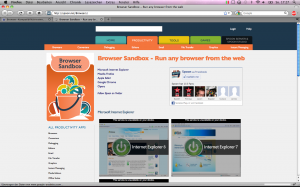 Screenshot Spoon.net/Browsers/