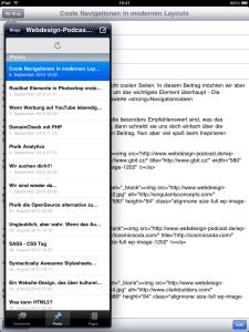 Wordpress iPad App