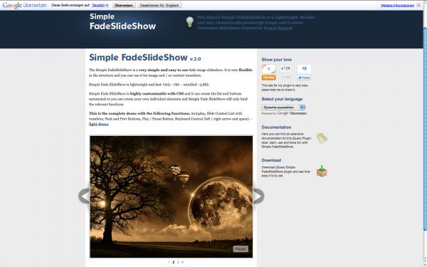 simple FadeSlideShow