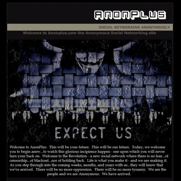 Anonplus - Das soziale Netzwerk des Hackerkollektiv Anonymous