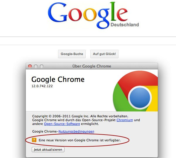 Google Chrome Update auf Version 13