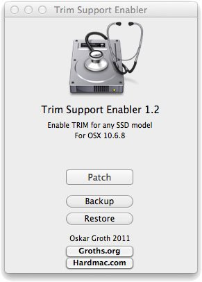 Trim Enabler 1.2 Mac OS X Lion