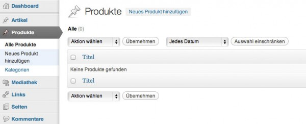 Custom-Post-Types in WordPress mit eigener Taxonomie – Produktverwaltung