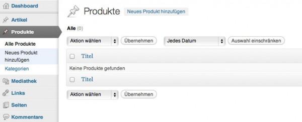Custom-Post-Types in WordPress mit eigener Taxonomie – Produktverwaltung