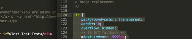 Alternative zu text-indent:-9999px; Image Replacement
