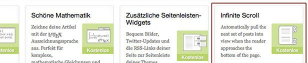 Infinite Scroll für WordPress mit Jetpack von Automattic