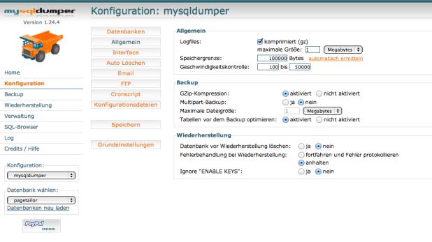 Konfiguration - Allgemein