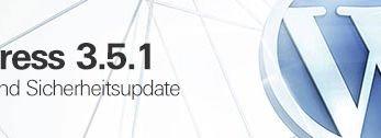 WordPress 3.5.1 - Wartungs- und Sicherheitsupdate