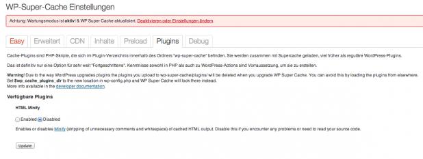 WP-Super-Cache - HTML Minify (WPSCMin)