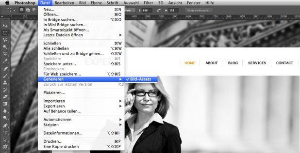 Adobe Bild-Asset Generator in Photoshop CC