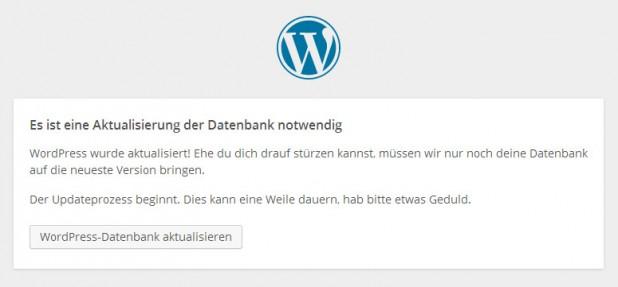 WordPress Datenbank aktualisieren