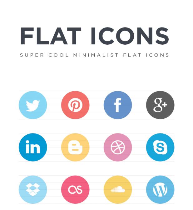 FREE Flat Social Icons EPS von Jorge Calvo García