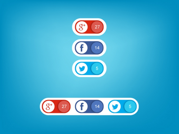 Social-Media Icons mit Counter