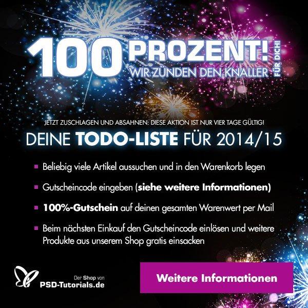 100%-Rabatt-Aktion im Online-Shop von PSD-Tutorials.de