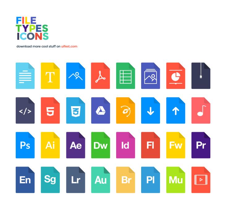 32 File-Type Icons von uifest.com