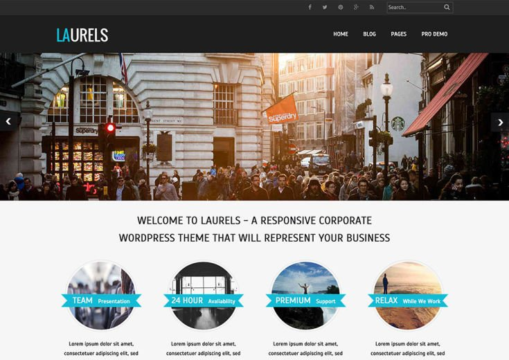 Laurels WordPress Theme
