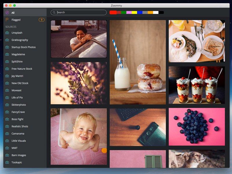 Nettes Gimmick: Die Suche nach Bildern in bestimmter Farbe