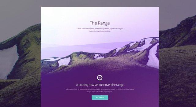 The Range -  Portfolio template