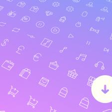 Über 100+ Line Icons für Webseiten, E-Commerce und UI Design