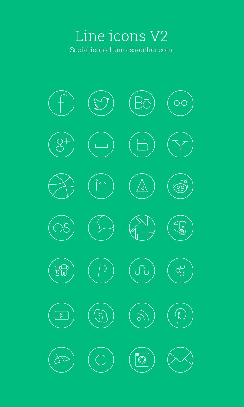 Social Media Line-Icon-Set