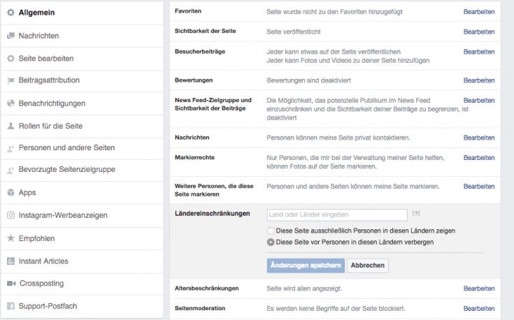 Sichtbarkeit deiner Facebook-Seite