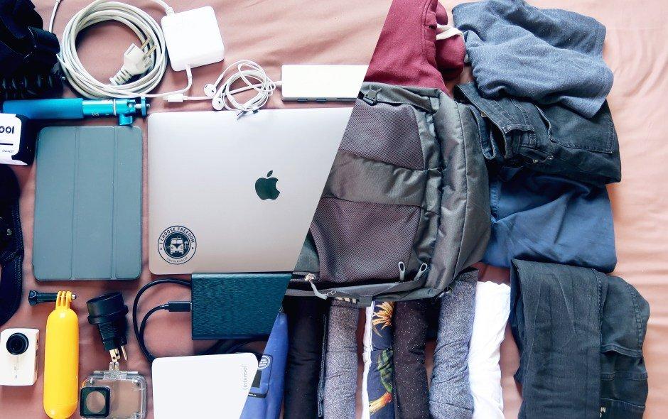 Das komplette Reisegepäck passt ins Handgepäck